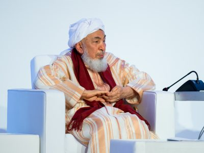 Shaykh Abdallah bin Bayyah, Presidente del Foro Promover la Paz.