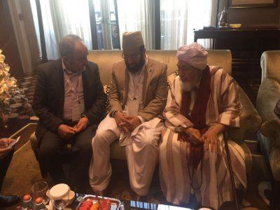 Prof. Abdessamad Romero Roman junto a Abdallah Bin Bayyah